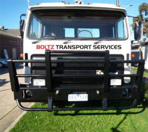 Boltz Electrical Contractor's transport truck for hire in Adelaide South Australia in the western subburbs. This truck is flat tray truck used to transport electical equipment and generators.