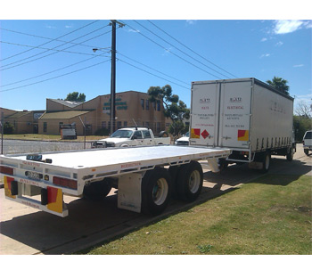 Boltz Electrical Trailer for hire. Transports generators and all electrical equipment that is hired.