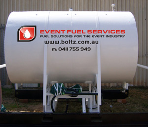 Boltz Electrical fuel tank. this is a back up for generators that are hired out.