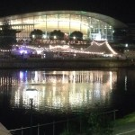 Torrens River in Adelaide at night