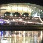 Boltz Event and festival Electricians in Adelaide supplied power to the Torrens River at night during an event.