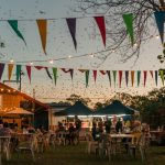 Boltz Electrical was called out to the Darwin Festival food area to hang up festoon lights.