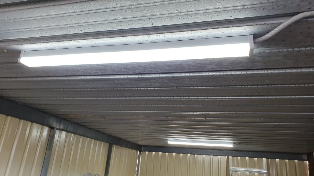 Domestic and Commercial Electricians Adelaide lighting in shed